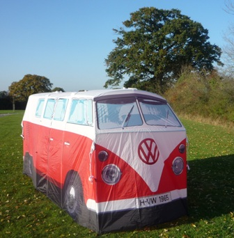 VW c&er van hire & VW Camper Van Glamping Tents at Dorset Country Holidays